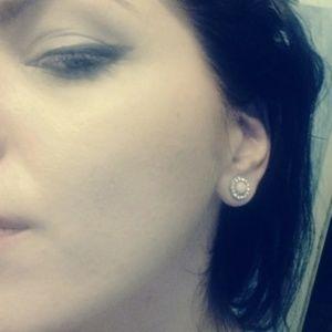 Jigdaliag Jewelry - Pink Flower Crystal Vintage Gold Stud Earrings